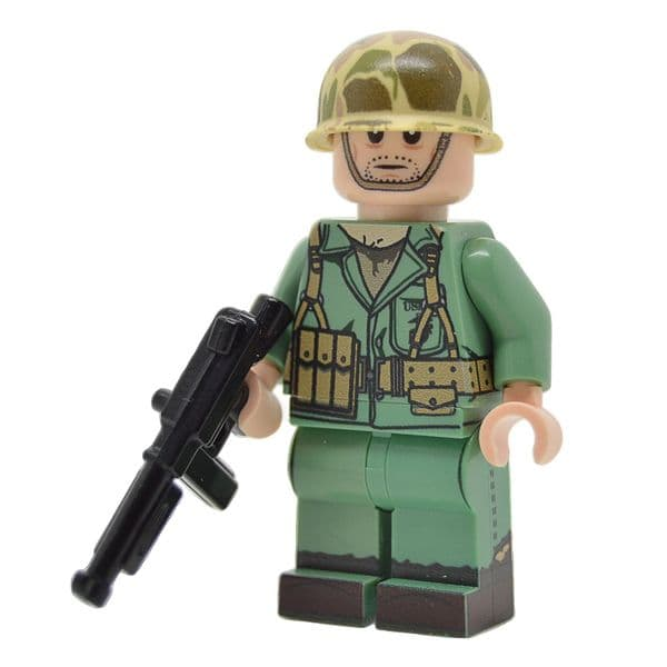 WW2 American Chinstrap | Printed Head | United Bricks